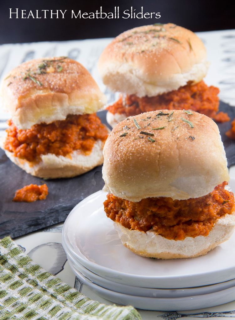 Healthy-Marinara-Meatball-Sliders-(Mini-Burgers)
