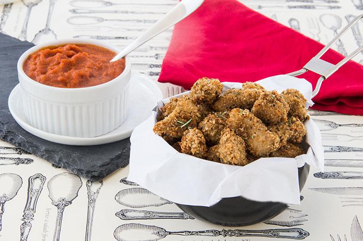 Baked-Crispy-Chicken-Parmesan-Bites