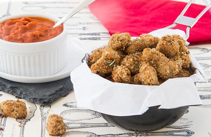 Crispy Chicken Parmesan Bites