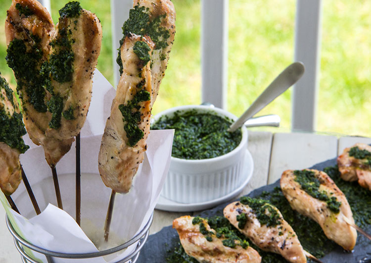Grilled-Chicken-Ceasar-Skewers-with-Kale-Pesto