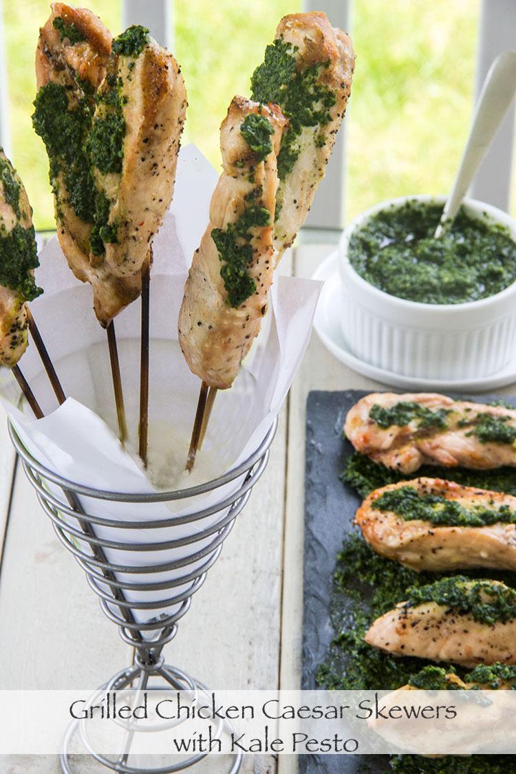 Grilled-Healthy-Chicken-Caesar-Skewers-with-Kale-Pesto