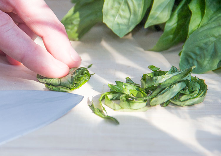 chopping-basil