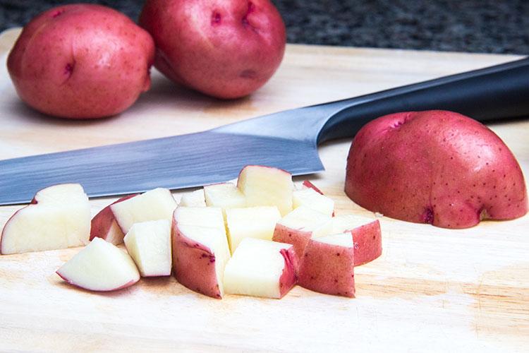 dicing-red-potatoes