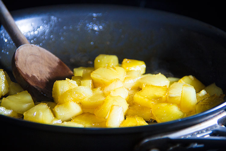 sauteeing-pineapple