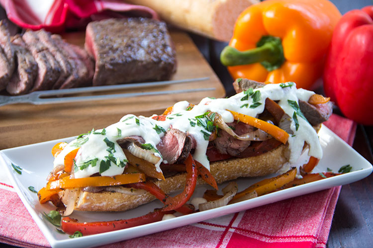 Lightened-Up-Steak-and-Cheese-Subs