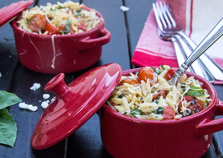 Mozzarella-Tomato-Basil-Orzo