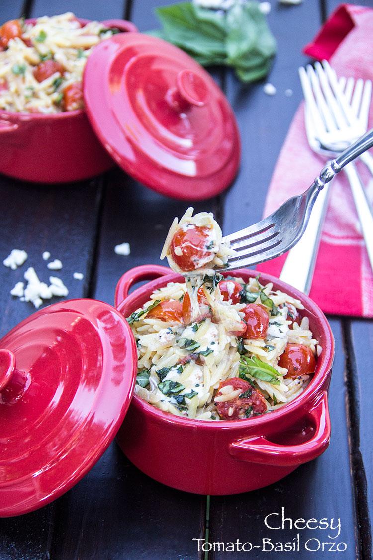 Mozzarella-Tomato-Orzo