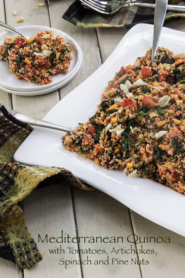 Quinoa-with-Tomatoes-Artichokes-Spinach-and-Pine-Nuts