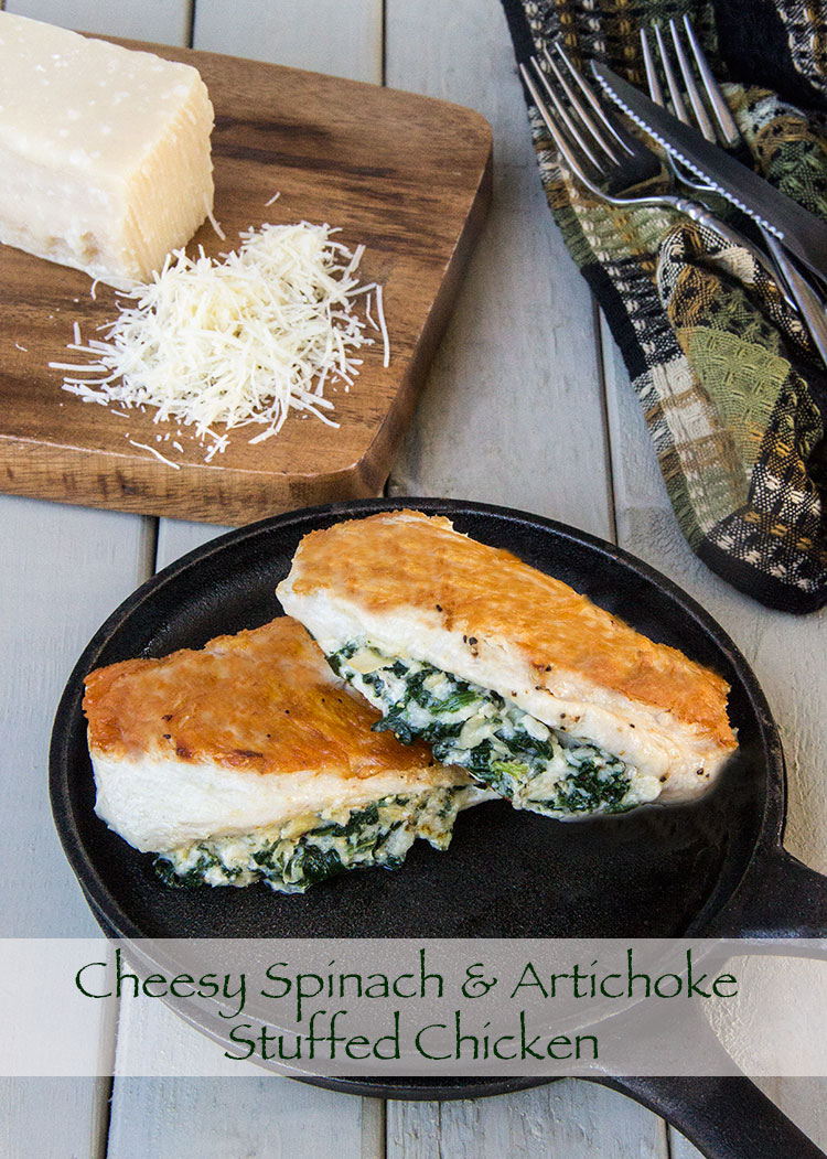 Cheesy-Artichoke-and-Spinach-Stuffed-Chicken