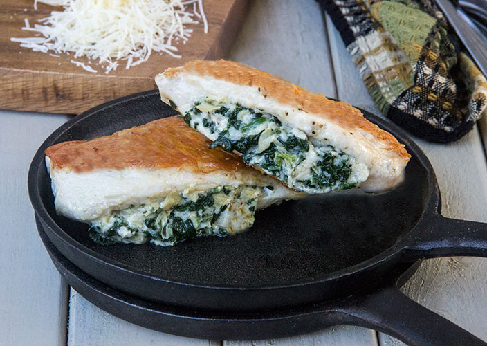 Cheesy-Spinach-Artichoke-Stuffed-Chicken
