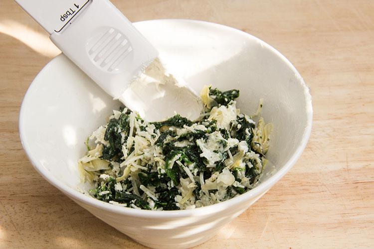 mixing-spinach-artichoke-dip