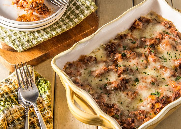 Healthy-Three-Cheese-Meat-Lasagna