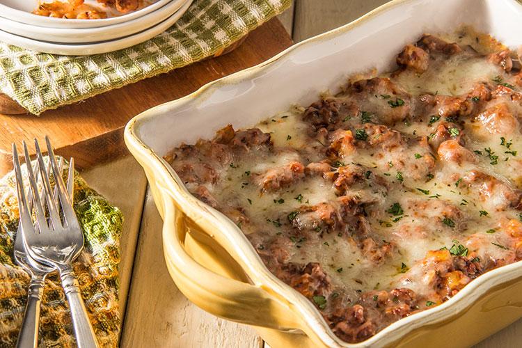 Skinny-Three-Cheese-Meat-Lasagna