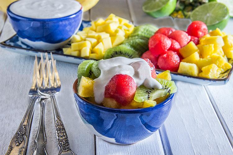 Tropical-Fruit-Salad-with-Coconut-Cream-(Vegan)
