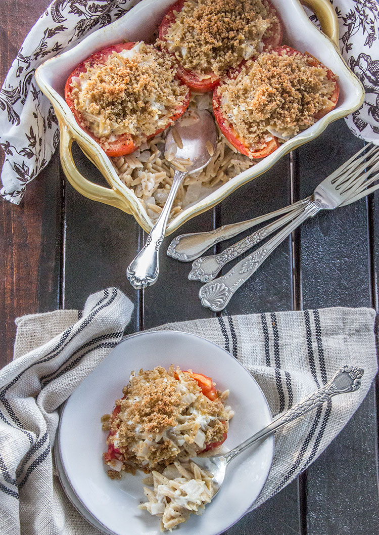 Stuffed-Cheesy-Orzo-Tomatoes