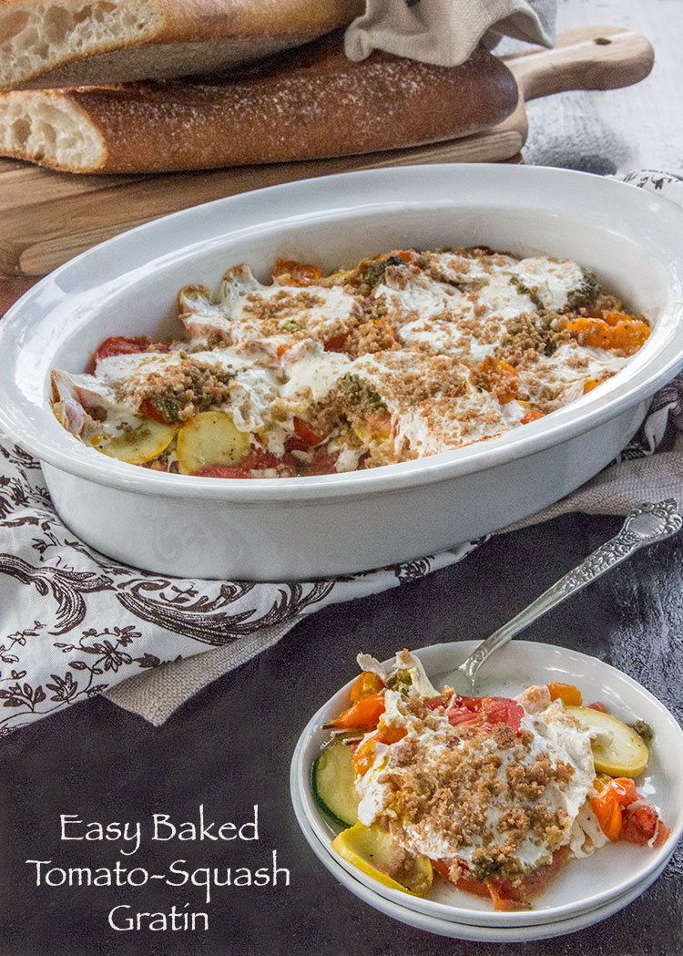 Easy-Baked-Tomato-and-Squash-Gratin