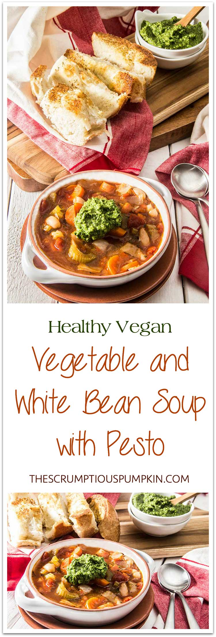 Healthy-Vegan-Vegetable-and-White-Bean-Soup-with-Pesto