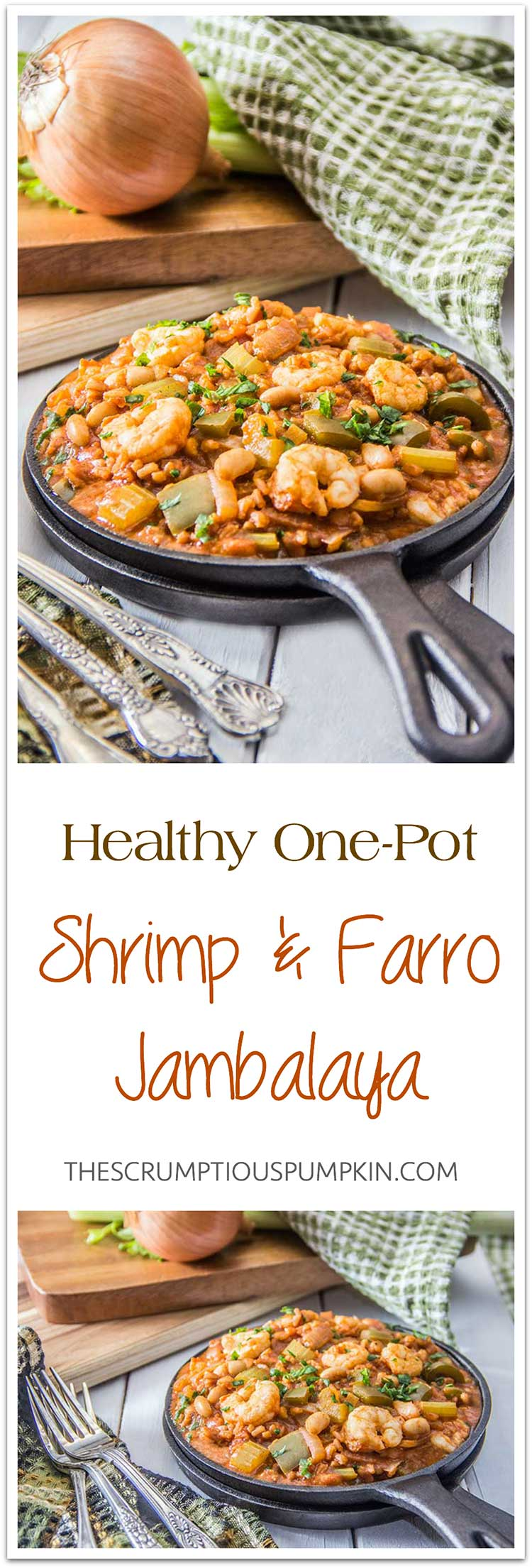Healthy-One-Pot-Shrimp-White-Bean-Farro-Jambalaya