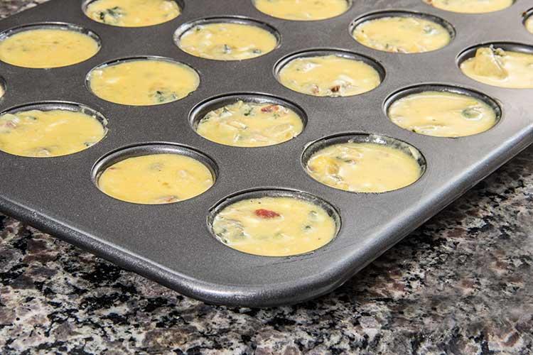 preparing-mini-spinach-frittata