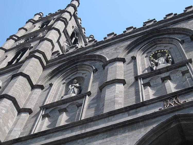 Notre-Dame-Basilica-Exterior-Detail-Montreal