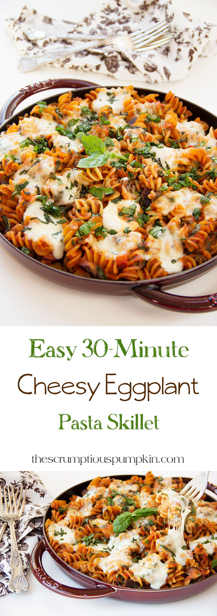 30-Minute-Easy-Cheesy-Eggplant-Pasta-Skillet
