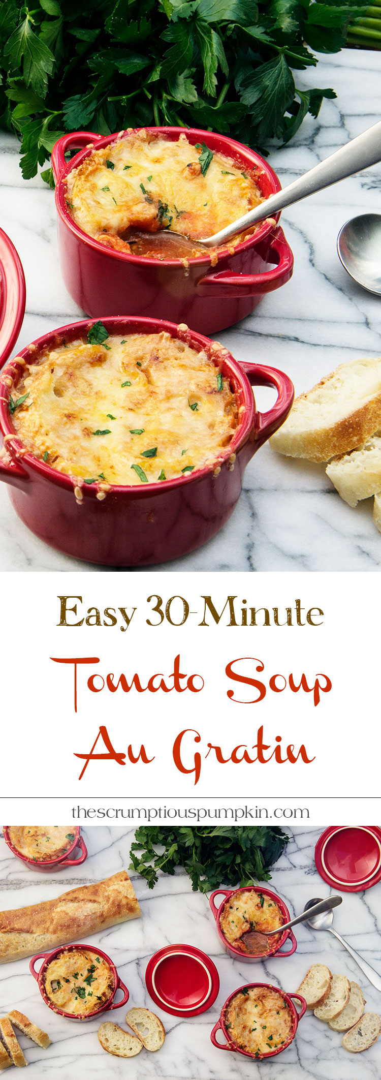 Easy-30-Minute-Tomato-Soup-Au-Gratin-with-Toasted-Baguette-and-Cheddar