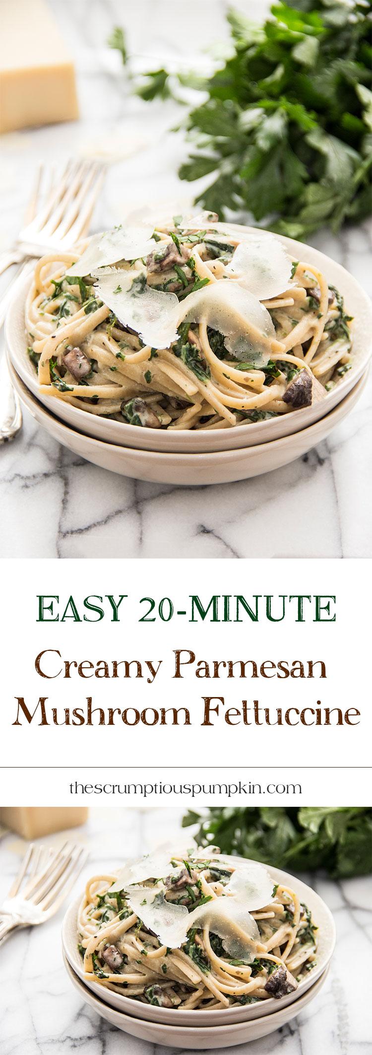 Easy-20-Minute-Creamy-Parmesan-Mushroom-Fettuccine