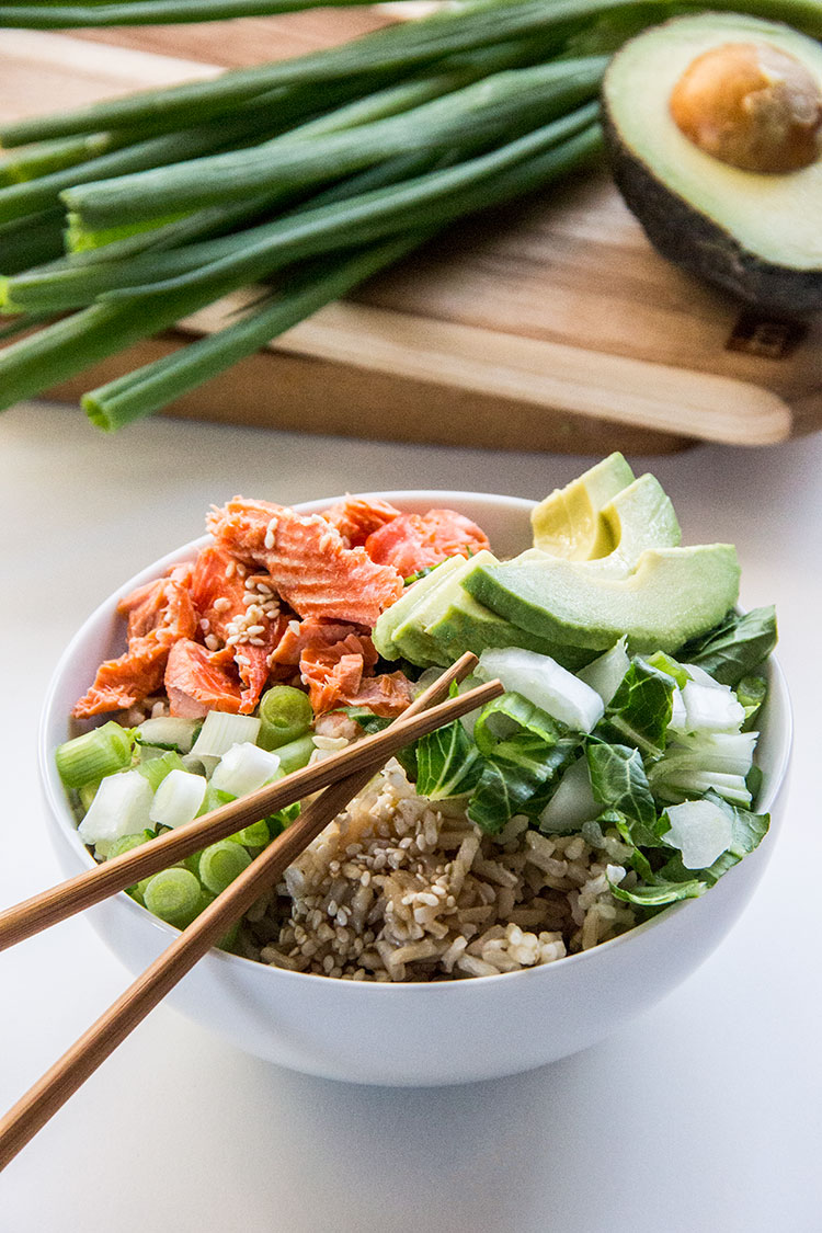 Ginger-Sesame-Salmon-Avocado-Bowls