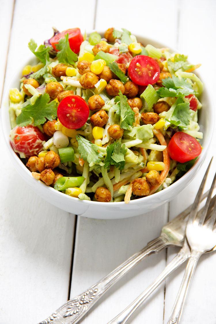 Crispy-Chickpea-Southwestern-Salad