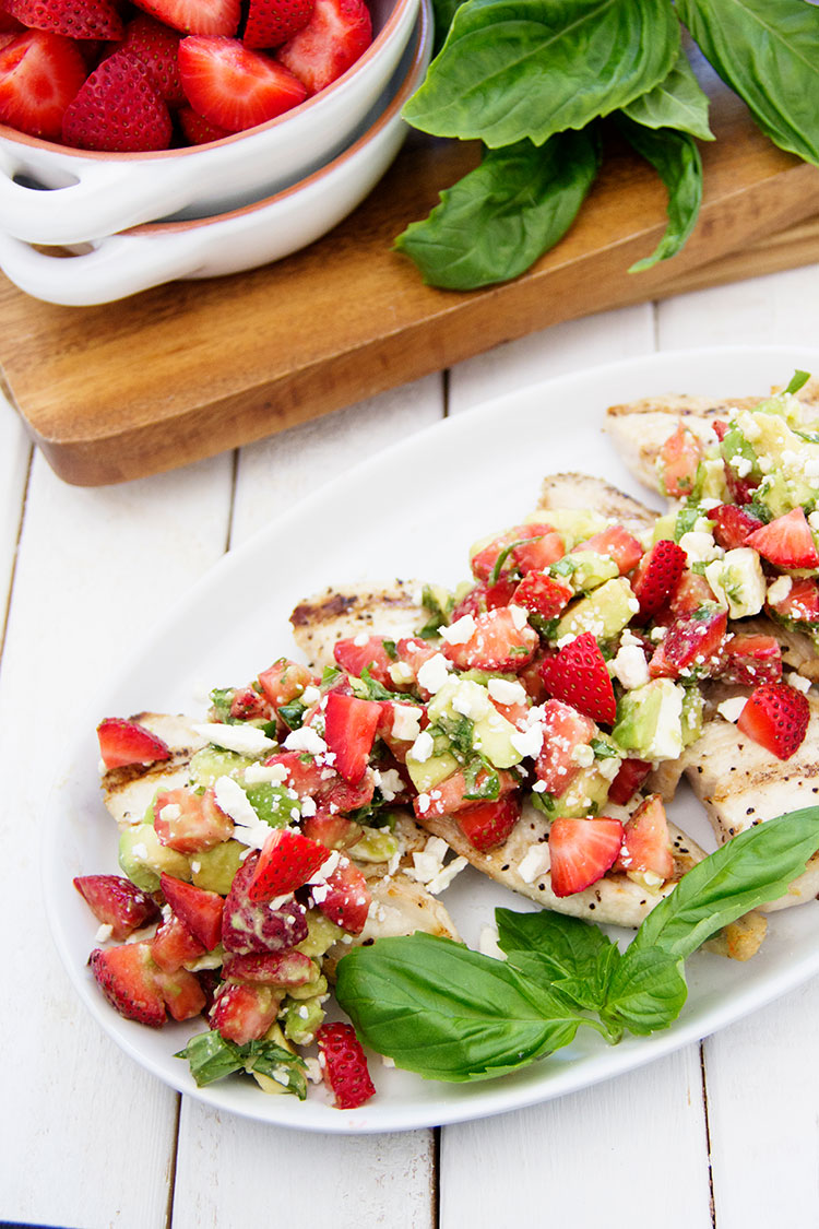 Grilled-Chicken-with-Strawberry-and-Avocado-Salsa