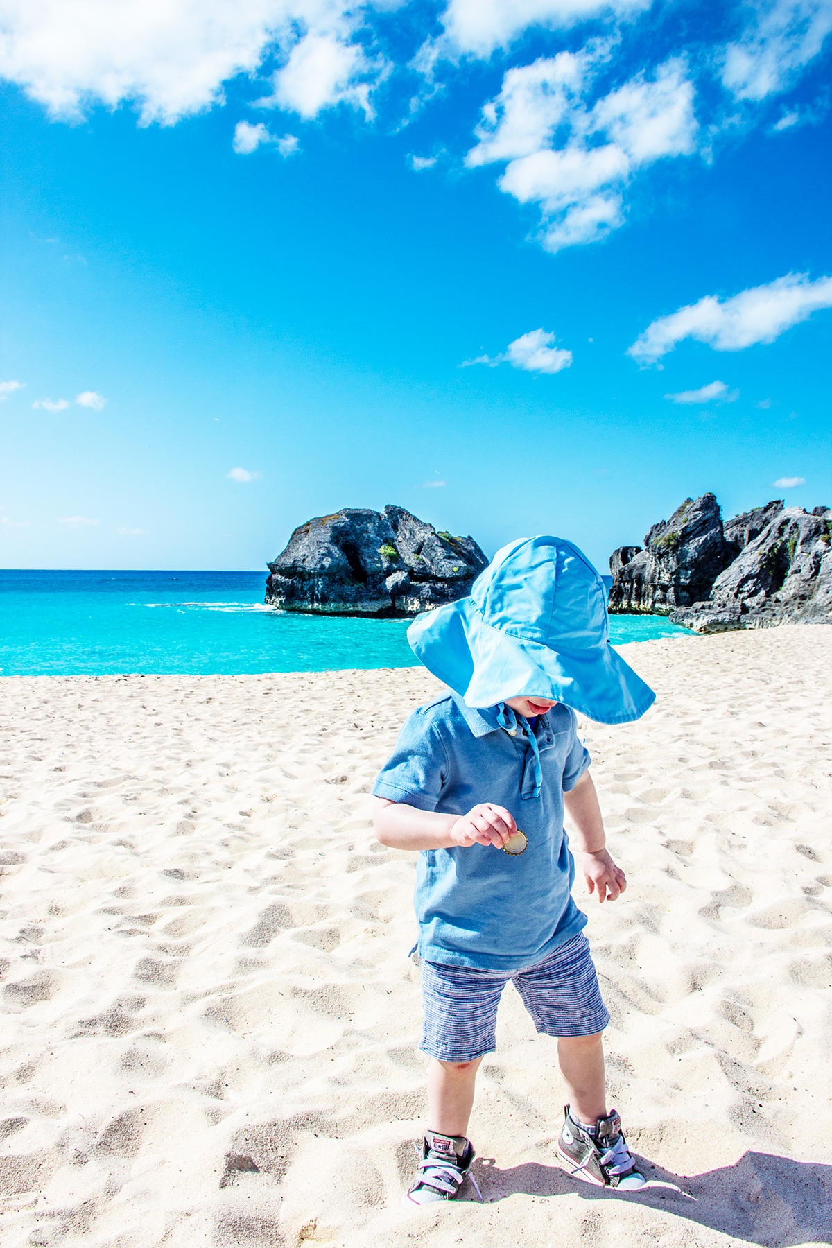 Baby-on-Warwick-Long-Bay-Beach-Bermuda