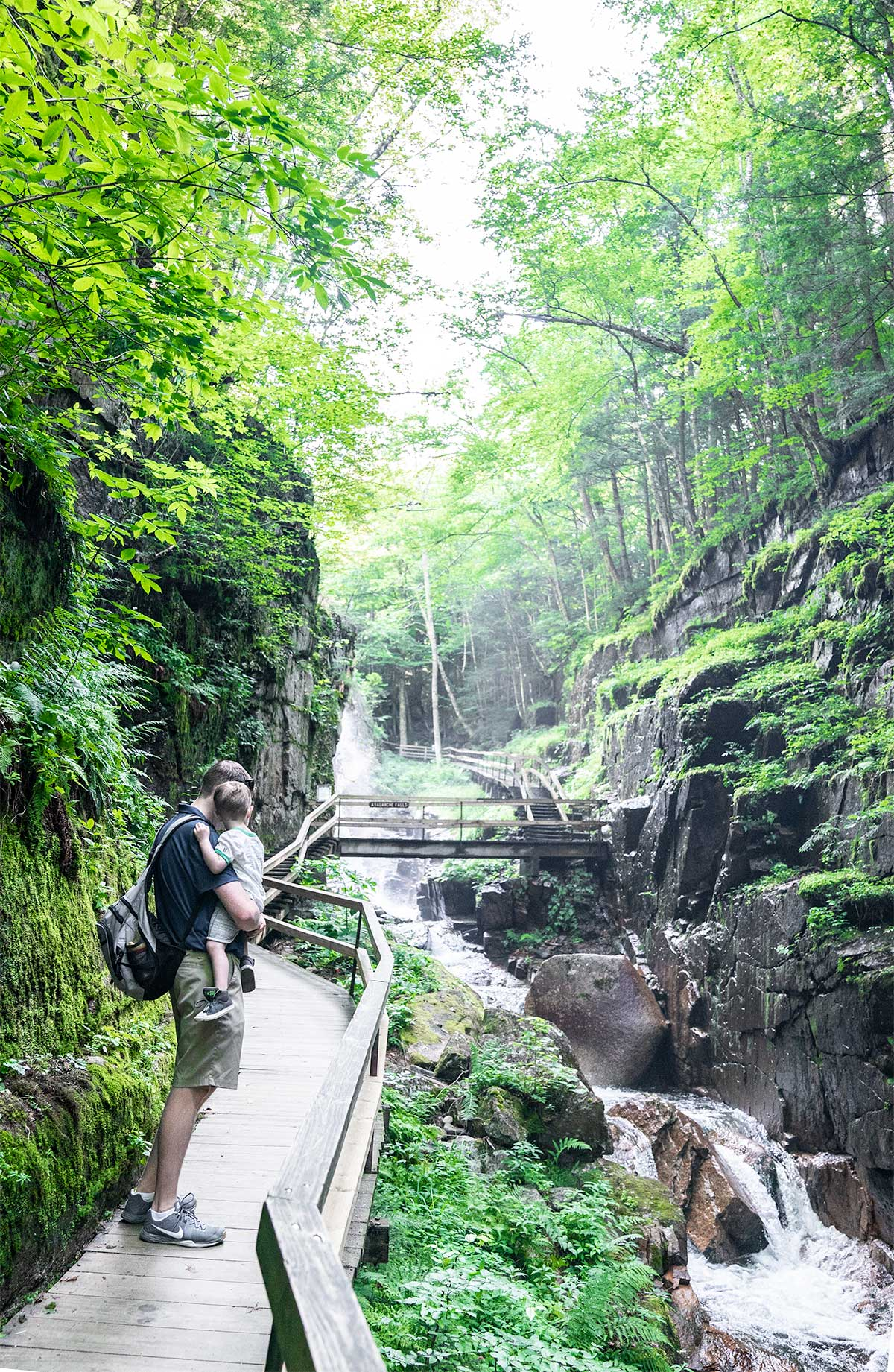 Flume-Gorge-White-Mountians-Franconia-Notch-Park