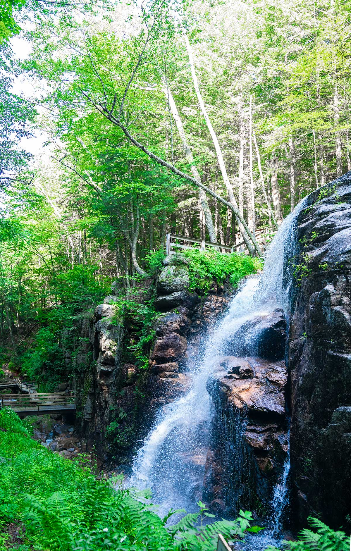 The-Falls-at-Flume-Gorge-White-Mountains-Franconia-Notch