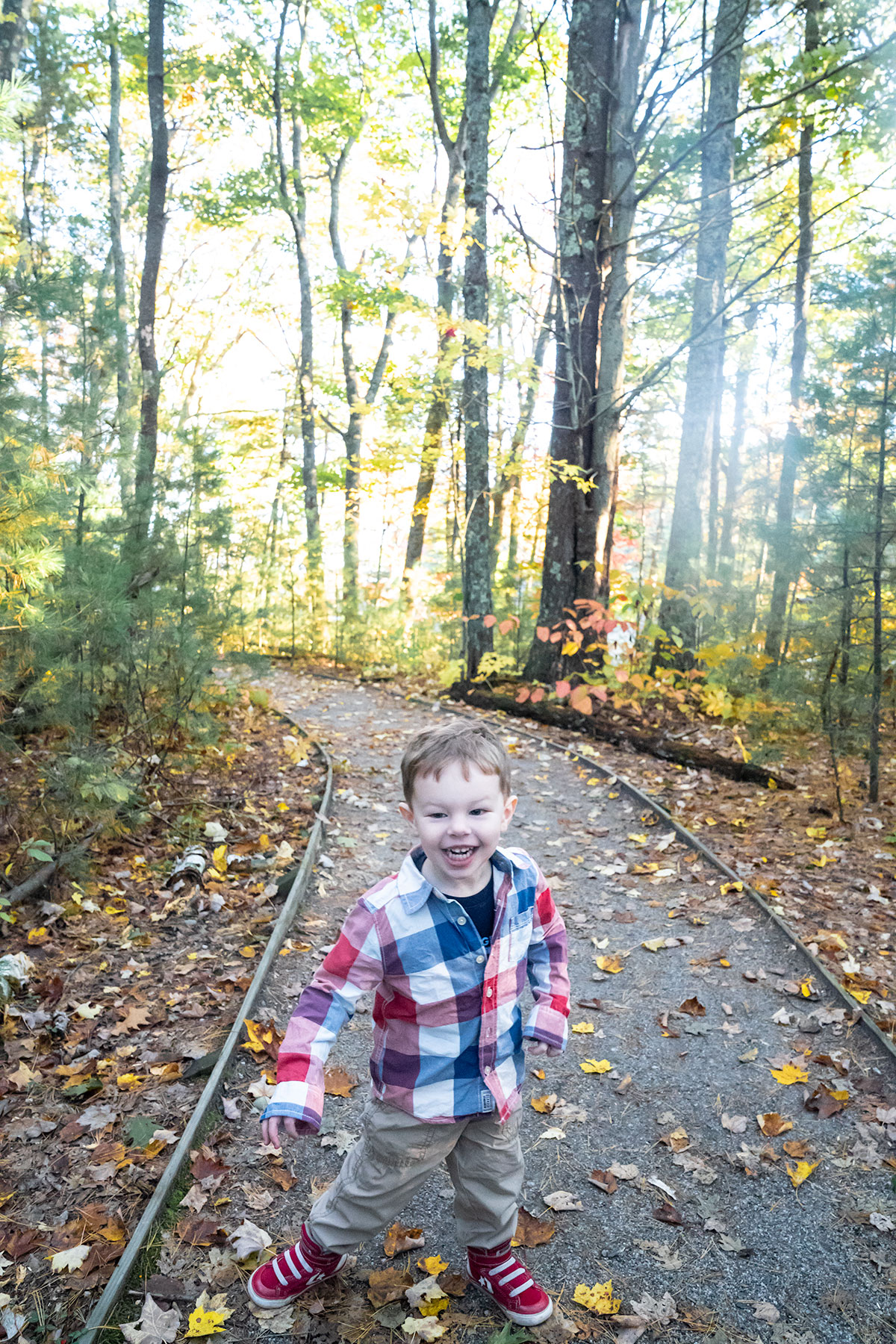 Walking-Rachel-Carson-Refuge-Trail-in-Fall