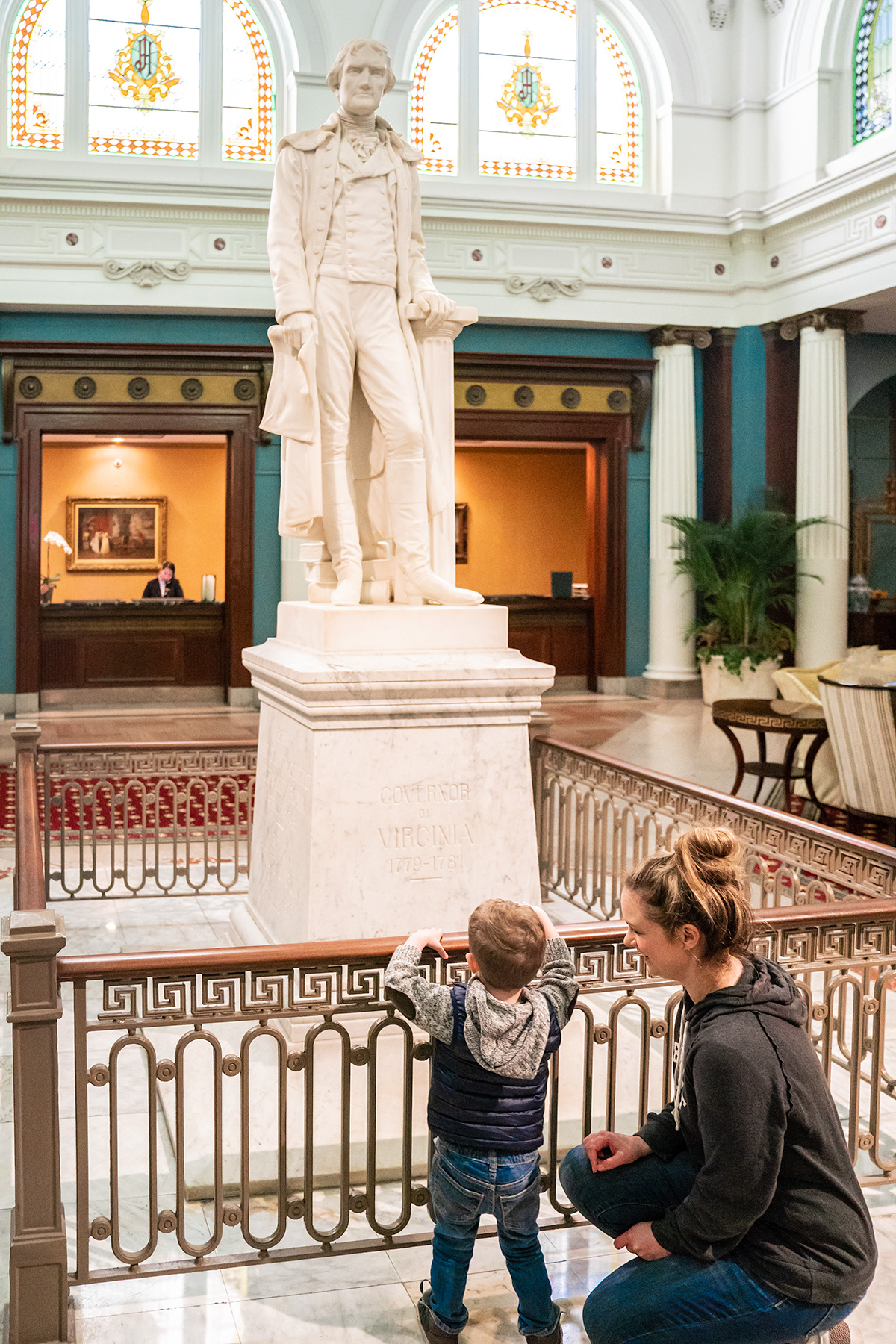 Checking-Out-Jefferson-Statue-The-Jefferson-Hotel-Richmond