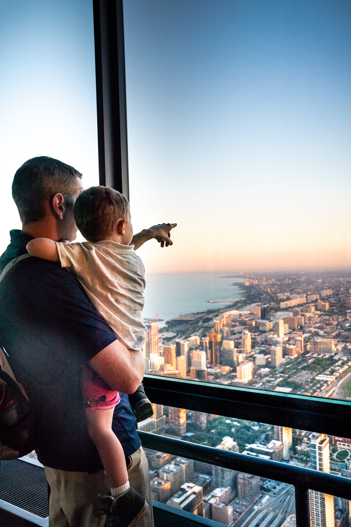 City-View-at-Sunset-Chicago-Skydeck-Willis-Tower