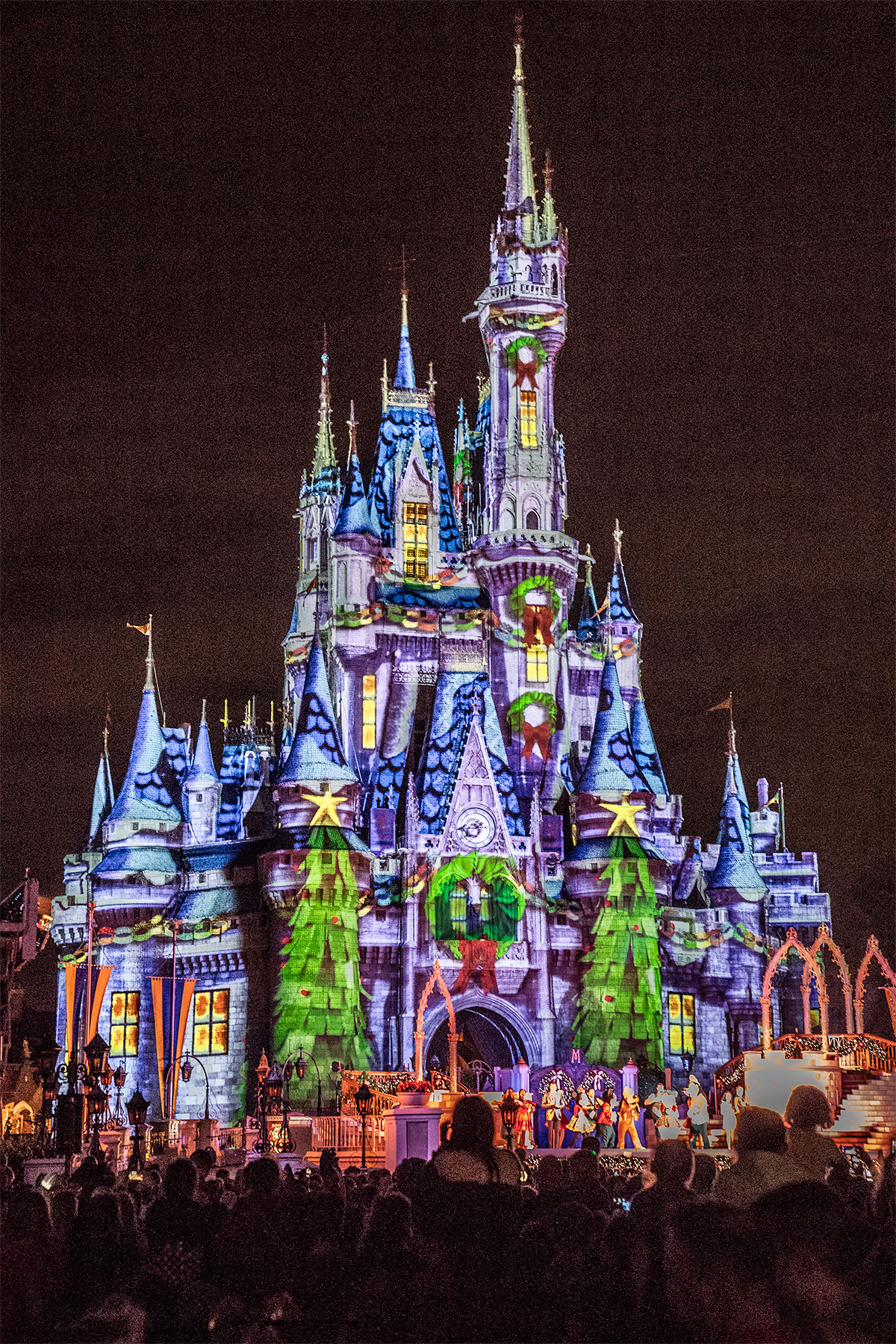 Cinderella-Castle-At-Christmas-After-Dark