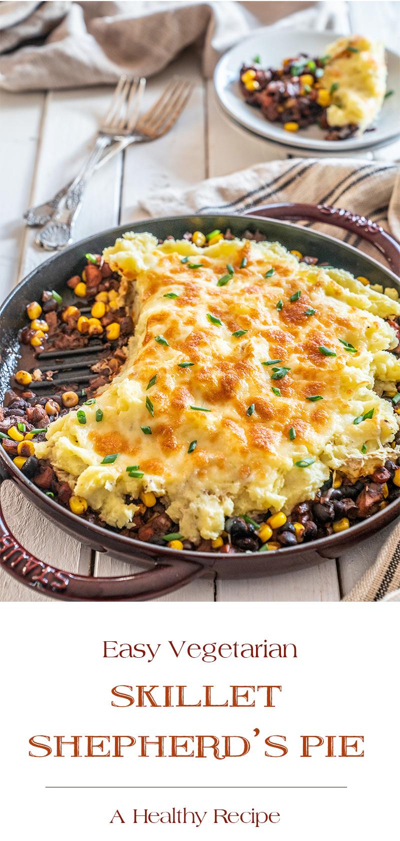 Easy-Vegetarian-Skillet-Shepherds-Pie-A-Healthy-Recipe