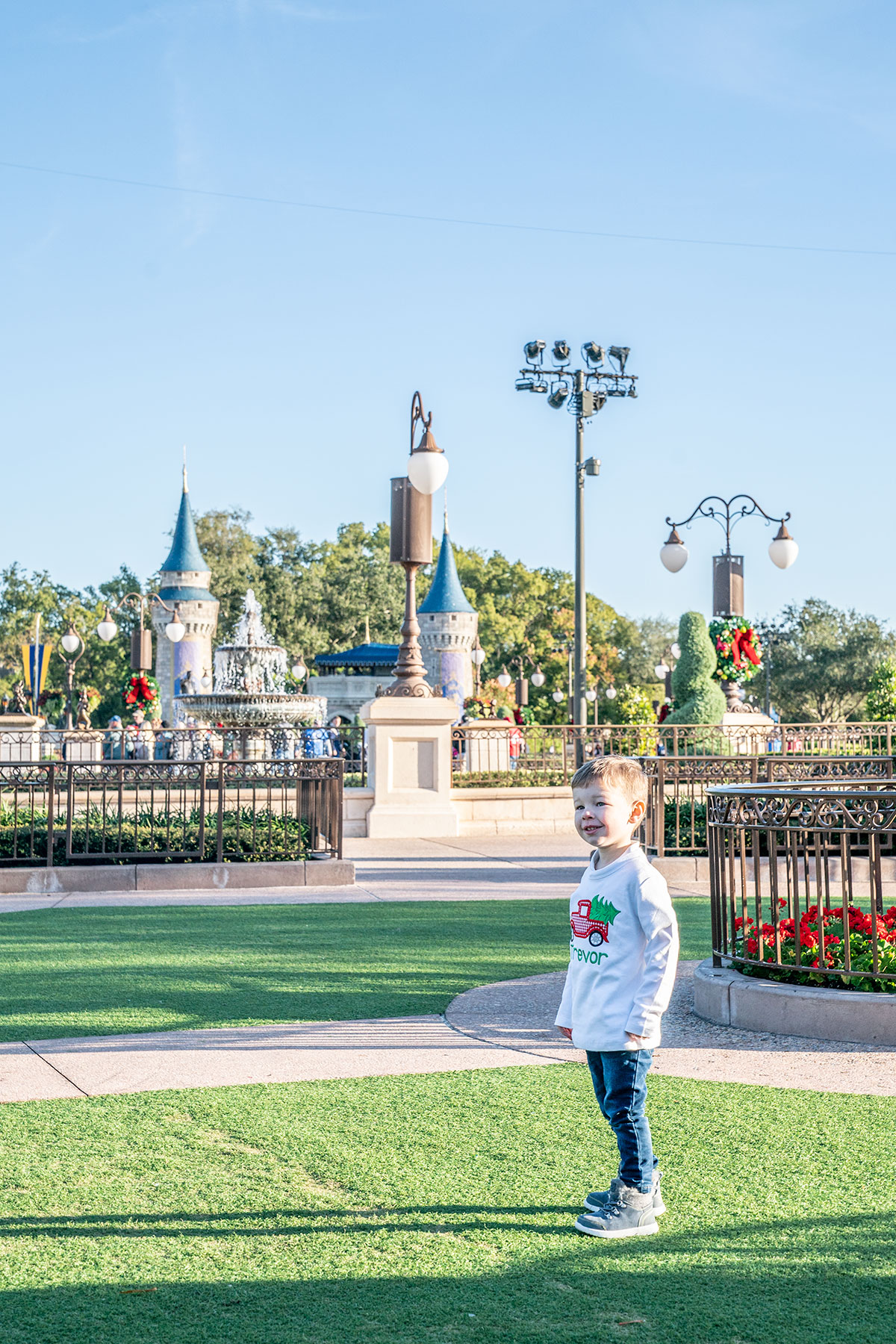 Trevor-at-Magic-Kingdom-at-Christmas
