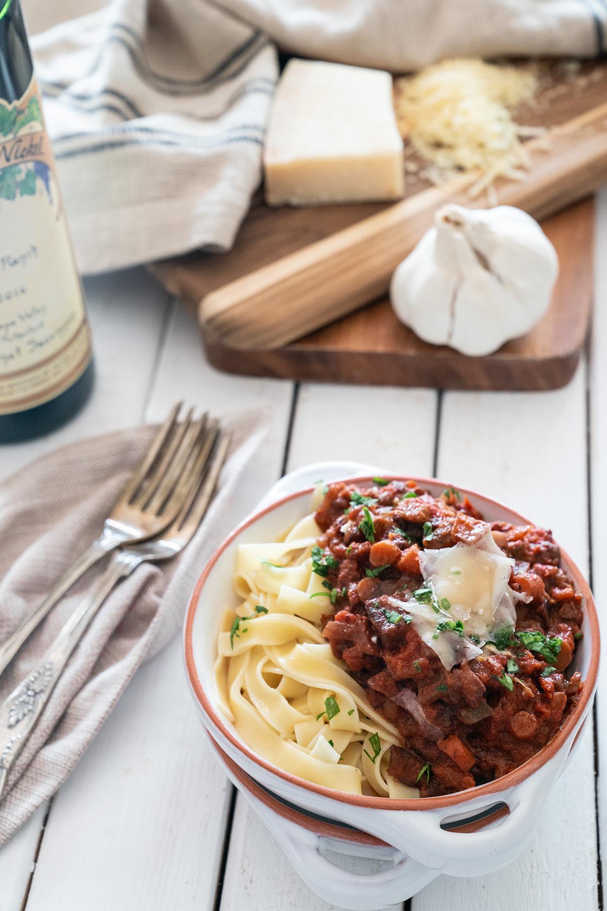 Vegetarian-Bolognese-Pasta