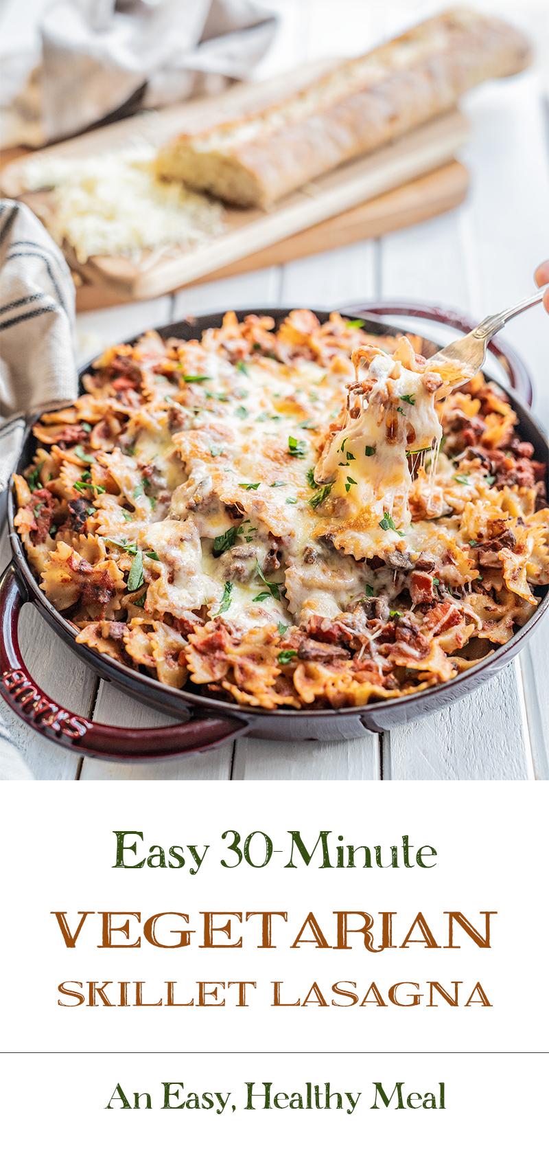 Easy-30-Minute-Vegetarian-Skillet-Lasagna