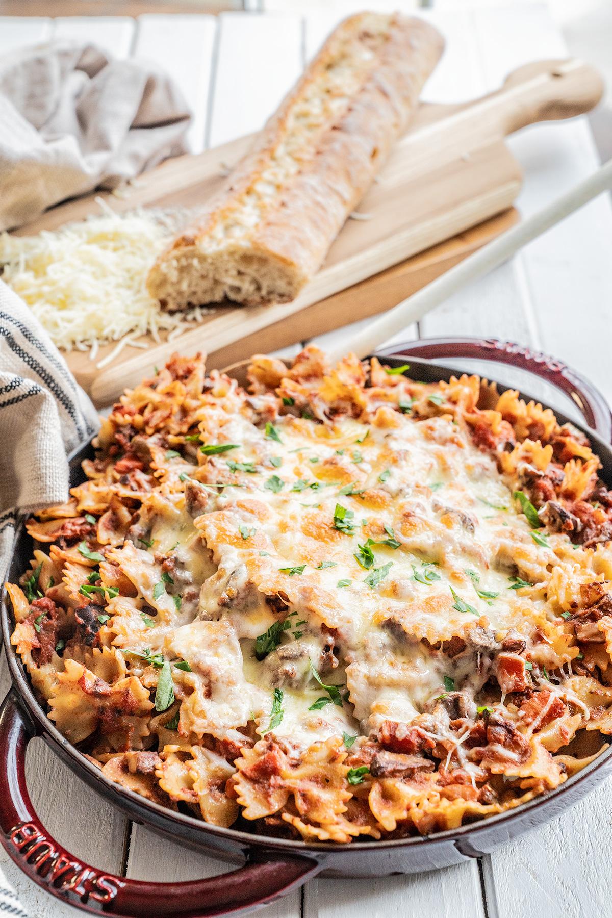 Healthy-Skillet-Lasagna-Vegetarian