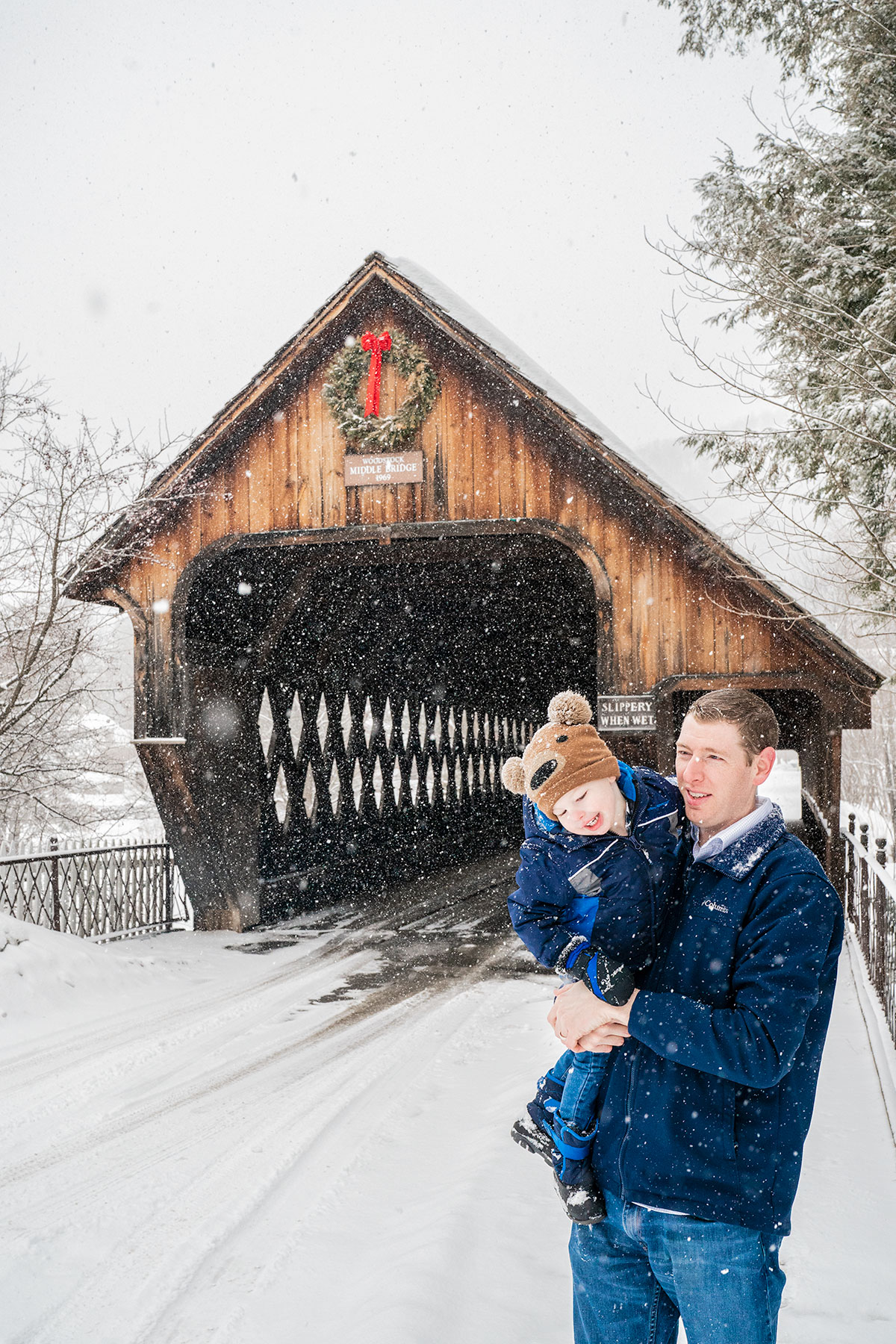 Tru-and-Chris-at-Woodstock-Vermont-Covered-Bridge