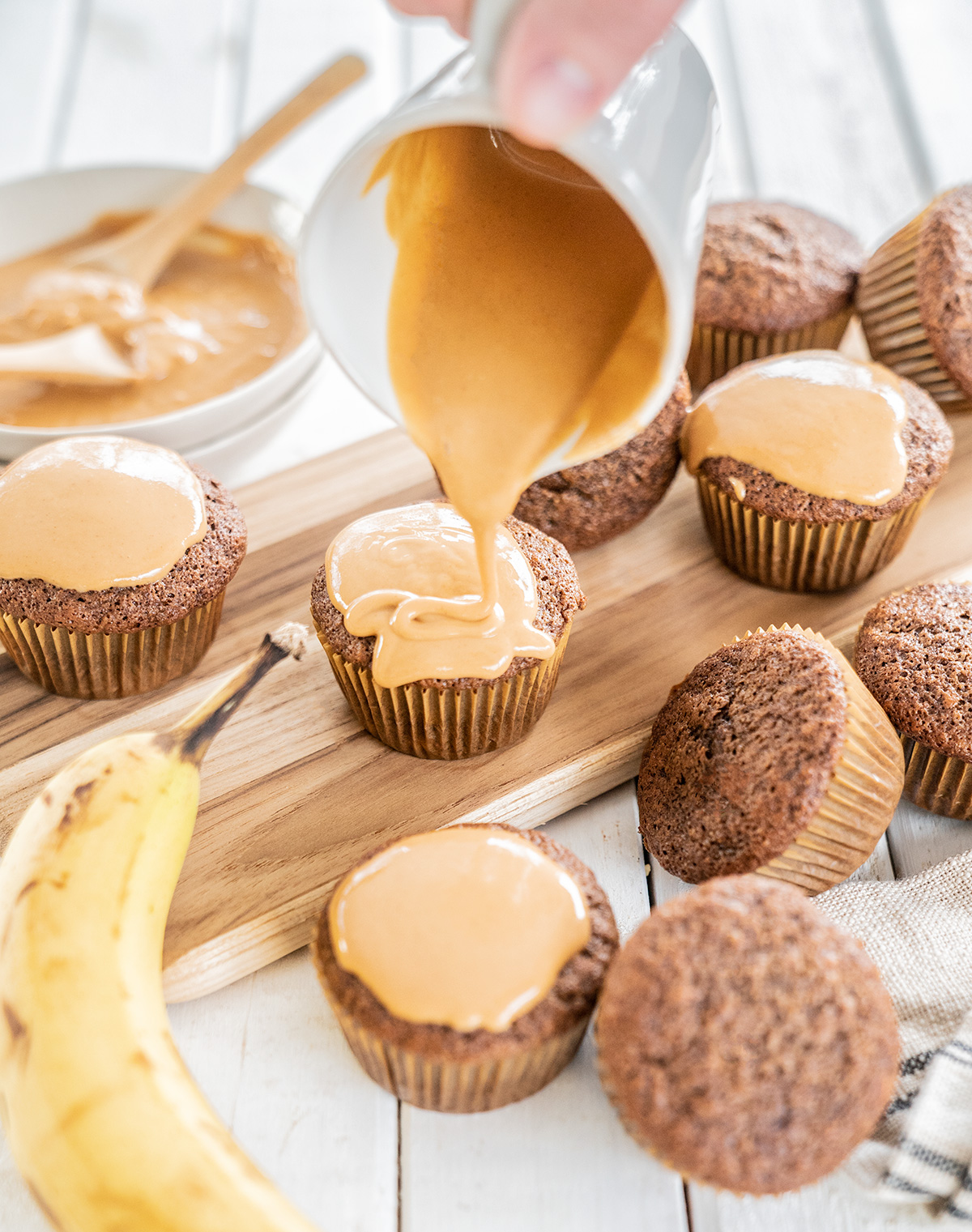 Banana-Chocolate-Muffins-with-Peanut-Butter