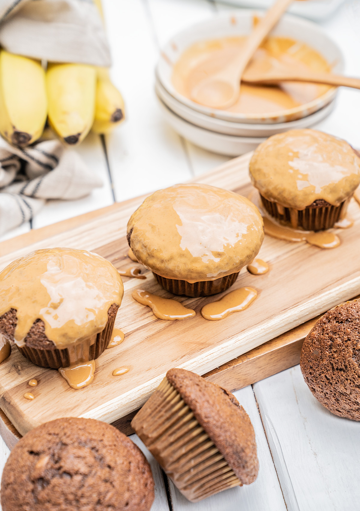 Chocolate-Banana-Muffins-with-Peanut-Butter