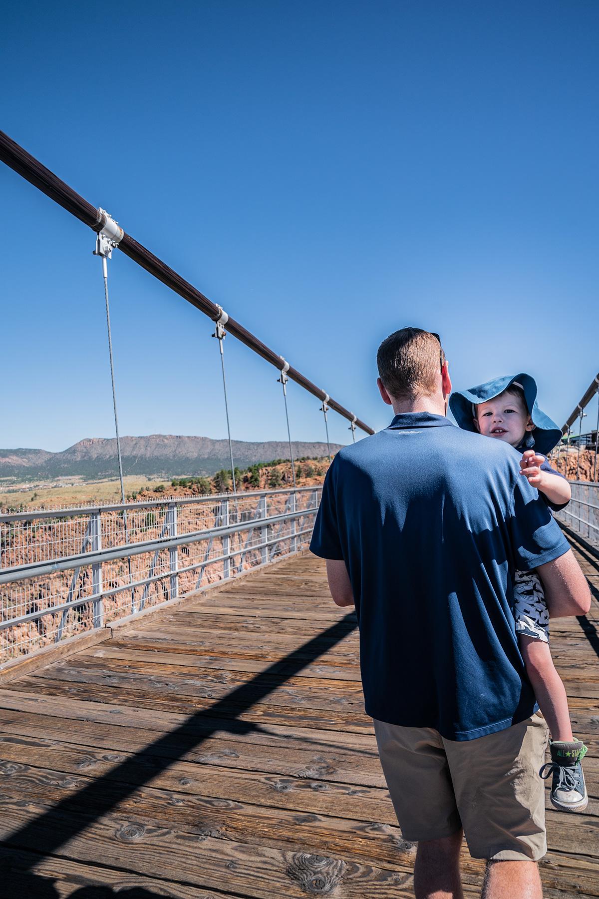 Walking-over-the-Royal-Gorge-Bridge-Colorado