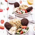 Easy-Greek-Falafel-Rice-Bowls