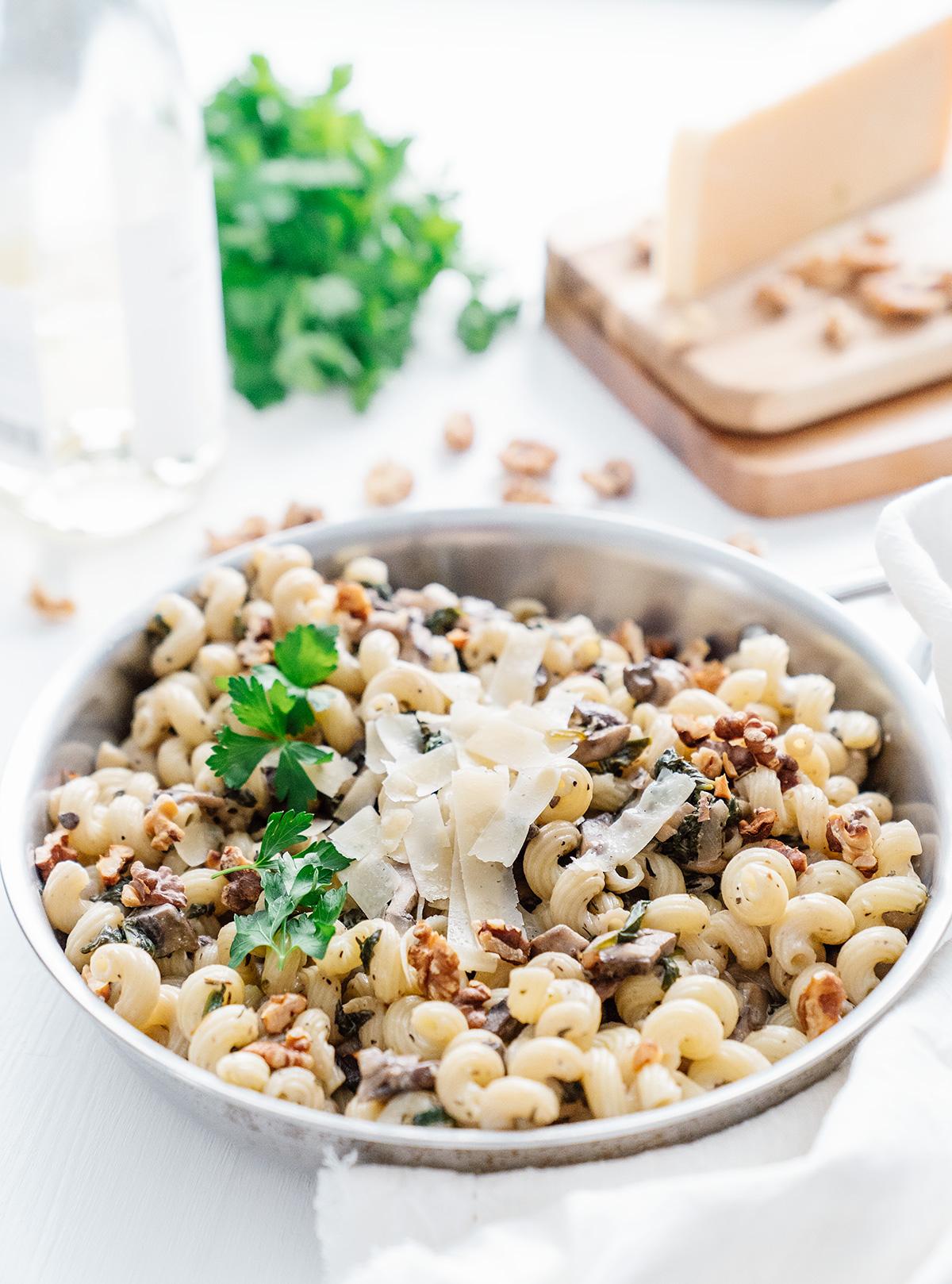 Creamy-Mushroom-Spinach-Pasta