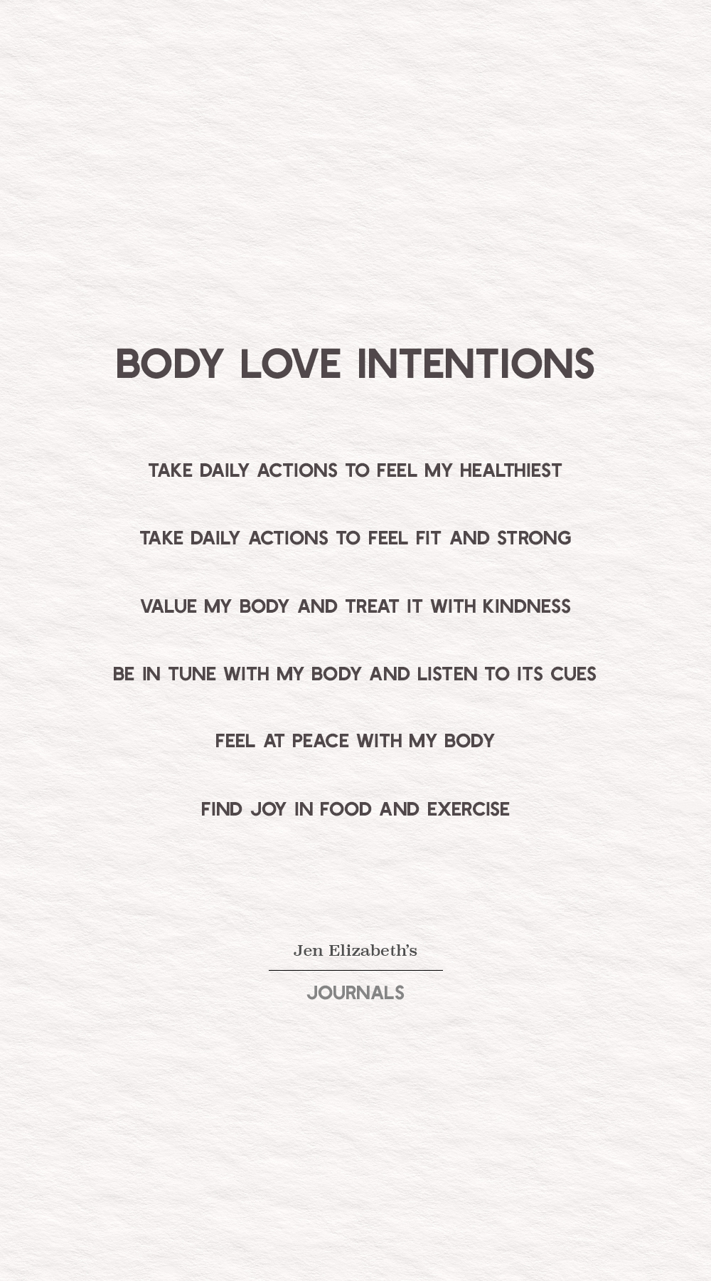 Body-Love-Intentions
